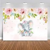 2 soorten schattige olifant douche achtergrond verjaardagsfeestje babyfotografie achtergrond doek Studio rekwisieten