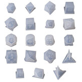 7 / 19Pcs / Set Dice Fillet Square Triangle Dice Mould Dice Digital Game Silicone Mould