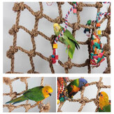 Parrot Bird Cage Toy Game Hanging Rope Climbing Buckles Swing Ladder Birds Toys