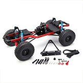 SCX10 1/10 4WD Formonteret CNC Frame RC Car Crawler Dele Straight Bridge version