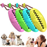 Pet Toys Dog MolarTooth Cleaning Rod Leaking Food Natural Rubber Ball Puppy Chew Toy Food Dispenser Multi-function Dog Toothbrush