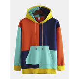 Mehrfarbiger Patch Hooded Loose Trend Hip-Hop Plus Cashmere Sweatshirt für Herren