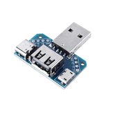 3pcs USB Adapter Board Male to Female Micro Type-C 4P 2.54mm USB4 Module Converter
