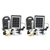 Generatore di archiviazione da pannello 3W 6V solare luce a led Sistema di ricarica USB Emergenza lampada
