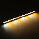 36 Pulgadas 32 LED Advertencia de emergencia Barra de luces Asesor de tráfico Estroboscópico Lámpara Ámbar + Blanco Color dual 12V para camión de ambulancia