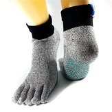 A Pair of Anti-Skid Breathable Toe Socks Bare Feet Running