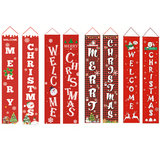 Merry Christmas Porch Banner Christmas Outdoor Decorations for Home Hanging Pendant Ornament