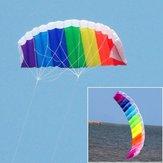 Collubful Power Dual Lines Stunt Kite Parafoil Parachute Parachute Outdolub Splubts Fun (Durable Polyester) (1,2 m / 1,4 m / 2 m / 2,7 m)