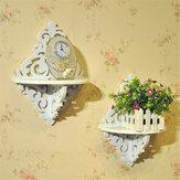 Prateleira de parede em estilo filigrana branco Suporte de decorações simples para casa de vela simples chique