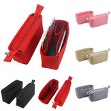 Original              2Pcs Felt Insert Organizer Bag Handbag Holder Multi Pocket Purse Cosmetic Zipper