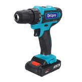 Drillpro 88VF Cordless Electric Drill Rechargeable Screwdriver 18+1 Torque W/ 2 Li-ion Battery