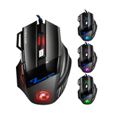 IMICE X7 USB Wired 7 keys 2400DPI Optical Gaming Mouse 7 LED Breathing Light for PC