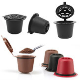6Pcs/Set 50-100ml Refillable Coffee Capsule Cup Reusable Coffee Pods w/ Coffee Spoon Brush for Nescafe Dolce Gusto Brewer
