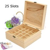 25 Slots Essential Oil Aromatherapy Wooden Storage Jewelry