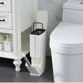 Plastik Çöp Tenekesi Tuvalet Temizleme Fırçalar Banyo için İnce Atık Kutusu Çöp Çöp