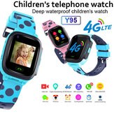 Y95 4G Kind Smart Watch-telefoon GPS Waterdicht Kinderen Smart Watch WiFi Anti-verloren SIM-locator Tracker HD Videogesprek