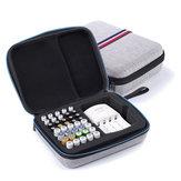 Zanlure 22.3x17.5x7cm Armazenamento digital Bolsa AA AAA Bateria Carregador Organizador Acessórios eletrônicos Caixa Pesca Camping Viagem