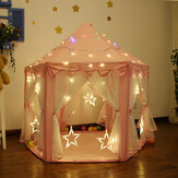 Pink Girls Castle Speeltent Princess Playhouse Kinderen Kinderen Binnenspeelgoed