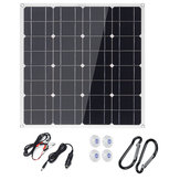 50W USB DC Monocrystalline Solar Panel Flexible Power Bank Outdoor Camping Hiking Battery Charger