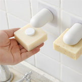 Magnetic Soap Holder Container Wall Attachment Adhesion Draining Soap Holder Shower Storage Soap Dishes Bathroom Products
