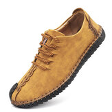 Menico Men Soft Hand Stitching Sole Casual Business Leather Oxfords