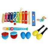 7 штук музыкальных инструментов Orff Set Kids Puzzle Percussion для детской сенсорной практики
