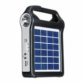 2400mAh Portable Solar Panel Charger Reusable Solar Generator System USB Port With Lamp Lighting