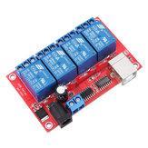 4 canaux 12V HID sans conducteur Relais USB Commutateur de contrôle USB Commutateur de contrôle de l'ordinateur Module de relais de contrôle intelligent