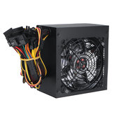 600W PC Power Supply 120cm LED Fan 24 Pin PCI SATA 12V Computer Power Supply