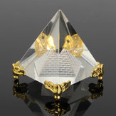 Small Feng Shui Egypt Egyptian Crystal Clear Pyramid REIKI Healing Prizms Room Decorations