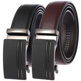 حزام جلد ثنائي الطبقة الأعمال حزام مشبك التلقائي