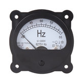 62T51-Hz AC 220V 380V 45-55 Hz Black Frequency Voltmeter Panel Meter Round Analog Dial