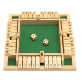Wooden Traditional Four Sided 10 Number Pub Bar Board Dice Party Funny Game Toys
