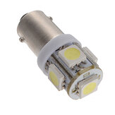 T11 BA9S T4W 5050 SMD Lado da cunha 5LED Light Bulb Xenon White Car Lamp DC12V