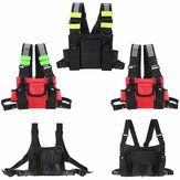 Nylon Radio Walkie Talkie Chest Pockets Harness Bag Backpack Holster Pack Pouch