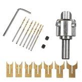 16pcs 14-25mm perline in legno perline trapano punta fresa set strumento di lavorazione del legno