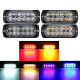 12 LED Amber Car Emergency Flashing Light Pojazd Lampa ostrzegawcza Strobe Flash 6500K 12 / 24V 36W