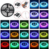 1M/2M/3M/5M Waterproof LED Strip Light RGB 5050SMD Flexible Ribbon Tape + 44 Key Remote Control +Power Adapter