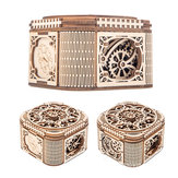 Wooden Mechanical Transmission Jewelry Box DIY Home Office Decor