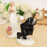 Bride and Groom Resin Wedding Party Cake Topper Love Favors Figurine Decorations