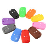 Multicolor 2 Botton Silicone Car Remote Key Shell Cover Case voor Opel Opel Corsa Insignia