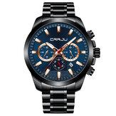 CRRJU 2286 Fashion Full Steel Luminous Display Quartz Watch