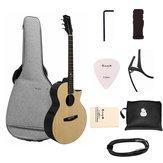 Enya EA-X2C Pro 41 cali Pro Fornir świerkowy gitara akustyczna z ostrym kątem z torbą na gitarę
