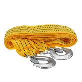 3 Meters Tow Towing Pull Rope Cable Strap 3 Tons Heavy DutyTrailer Rope Tools kit
