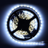 5pc 5M Non-Waterproof Cool White 3528 SMD 300 LED Strip Light DC12V for DIY Indoor Home Car