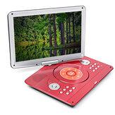 16 Inch Rotación de 270 ° Reproductor de DVD portátil Coche Juego USB TV AV Salida Control remoto