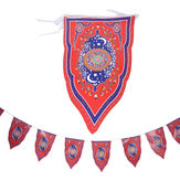 8PCS Ramadan Flag Islamic Bunting Hanging Flag Eid Mubarak Party Decorations