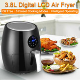 120V 3.8L 1350W Digital LED Electric Air Fryer Multifunction Smart Fryer Chicken Health Fryer Cooker Smart Touch Deep Airfryer