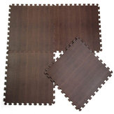 30*30*1CM EVA Foam Wood Grain Ground Mats Dark Carpet