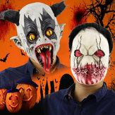 Moda Cadılar Bayramı Korkunç Lateks Maske Tam Yüz Kostüm Partisi Ürpertici Korku Cosplay